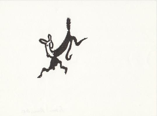 Electric, 13 x 17,5 cm, Tuschestift auf Papier, Susanne Renner-Schulz