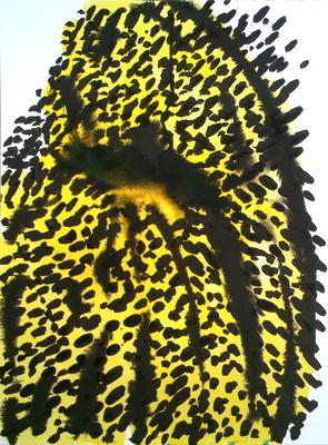 Yellow, 30 x 40 cm, Tusche auf Papier, Susanne Renner, 2015