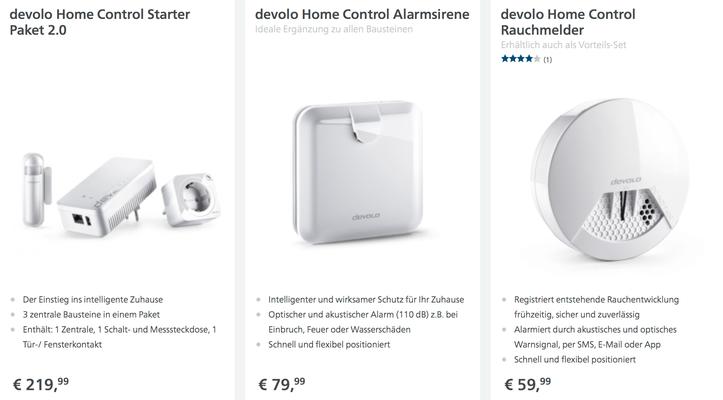 devolo Home Control Starter Paket 2.0, Alarmsirene, Rauchmelder