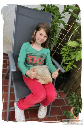 Melina mit Asterix & Baccardi...ein Fellknäuel,. 2015, Melina ist eine große Hilfe bei der Pflege und Vorbereitung auf unsere erste Lehrrichtung