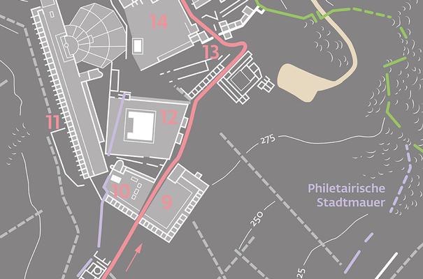 Detail des Planes von Pergamon