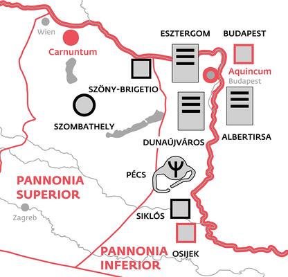 Ausschnitt der Karte mit Fundorten von Ringen und Inschriften.