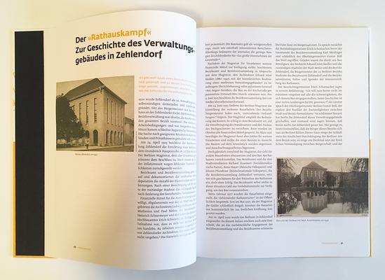 Aufsatz zur Geschichte des Zehlendorfer Rathauses.