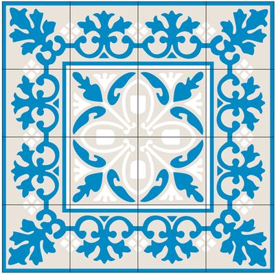 Eines der traditionellen marokkanischen Fliesenmuster für den Katalog eines Vertriebes der Betonfliesen.