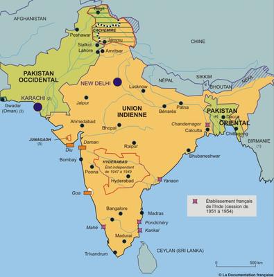 Les comptoirs commerciaux français en Inde jusqu'au 20e siècle