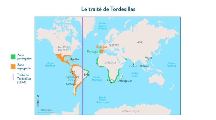 1494, Traité de Tordesillas, le partage du monde