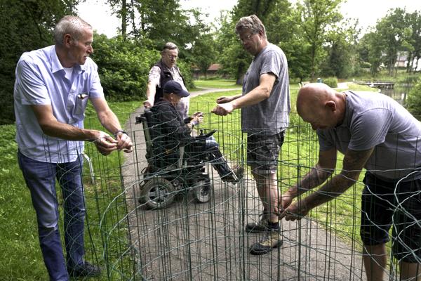 Zaterdag de volgende sessie, geholpen door Bert Houwers, Frans Rejack, Michel Geerlings en Lei Jacobs ...