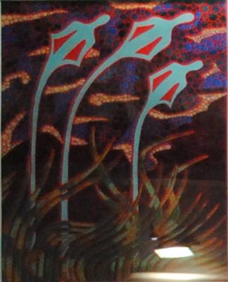 """Jean-Christophe ATTENCOURT, """"Sentir le vent dans les hautes herbes"""", Pastel à l'huile sur acrylique, 60x80 cm"""