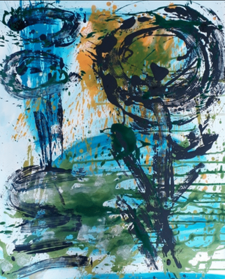 "MY-Myriam HAMOT, ""Paysage 3"", Acrylique, 100x80 cm, 2019"
