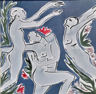 """ClaireBMasimbert, """"Où irons-nous ?"""", Encre de chine, encres acryliques, 100x100 cm, 2020"""