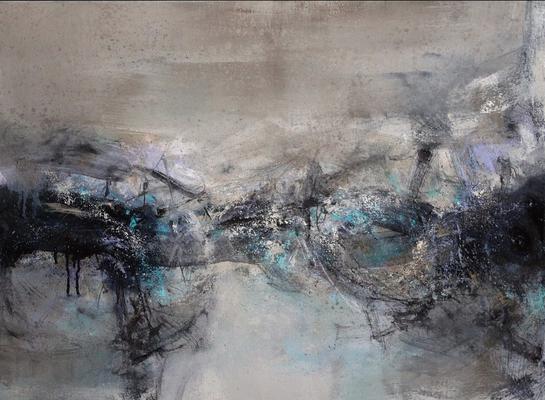 "Raymond ATTANASIO, ""18-12-11"", Huile sur toile, 73x54 cm, 2018"