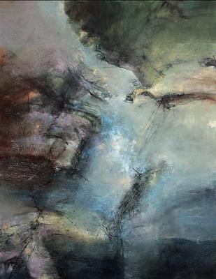 "Raymond ATTANASIO, ""18-11-13"", Huile sur toile, 92x70 cm, 2018"