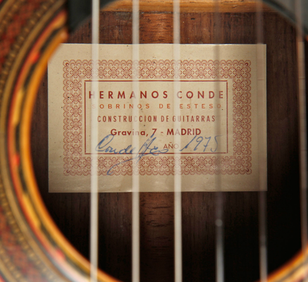 Hermanos Conde 1975 - Paco de Lucia - Label - Etikett - Guitar 3 - Photo 8