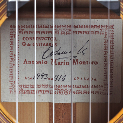 Antonio Marin Montero 1993 - Guitar 1 - Photo 4