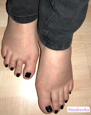 Heute früh waren die Füße ok...