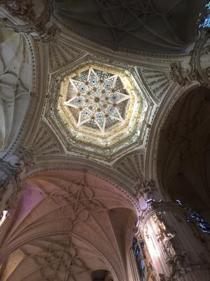 la stella ad 8 punte sul soffitto