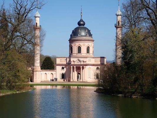 Blick vom Merkurtempel auf die Moschee