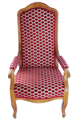 S47 Armlehnsessel Biedermeier, klassisch gepolstert, individuelle Anfertigung an Ihr Körpermaß, H 128 cm B 65 cm T 55 cm, Sitzhöhe 42 cm, Kirsche EUR 4.050,-, Nussbaum EUR 4.200,-