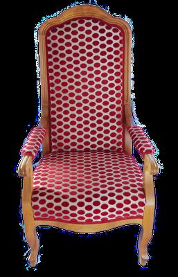 S47 Armlehnsessel (Musterbild) Biedermeier, klassisch gepolstert, Nussbaum lackiert (auch in Kirsche), individuelle Anfertigung an Ihr Körpermaß, H1280xB650xT550 SH420mm, weiß/roh gepolstert