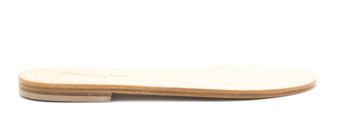 Sandali artigianali bassi in cuoio