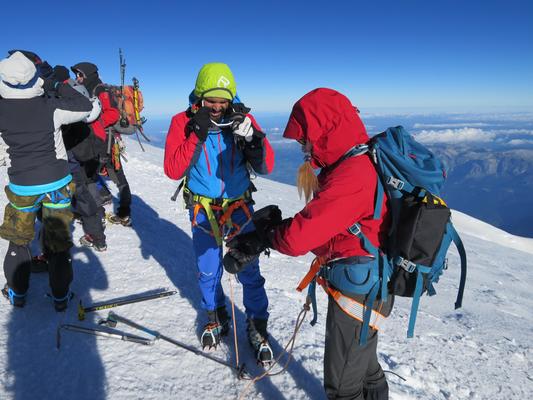 Mont Blanc, Mont Blanc besteigen, Gipfelerfolg Mont Blanc, Mont Blanc 4810m, Mont Blanc Frankreich, Cosmic Hütte,