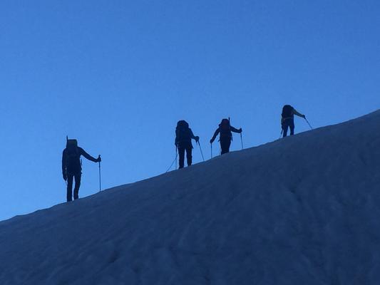 Breithorn, Pollux, Castor, Paso del Naso, Ludwigshöhe, Balmenhorn, Zumsteingspitze, Cabana Margerita, AMICAL alpin