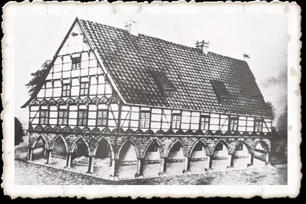 Rathaus auf dem Lindenplatz, erbaut 1603, abgerissen 1856
