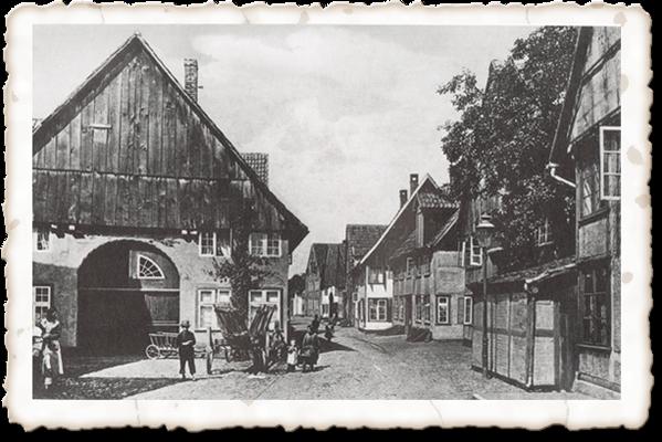 """""""Lütke"""", heute Kleine Straße. Vorne Haus Albrecht, erbaut 1620"""
