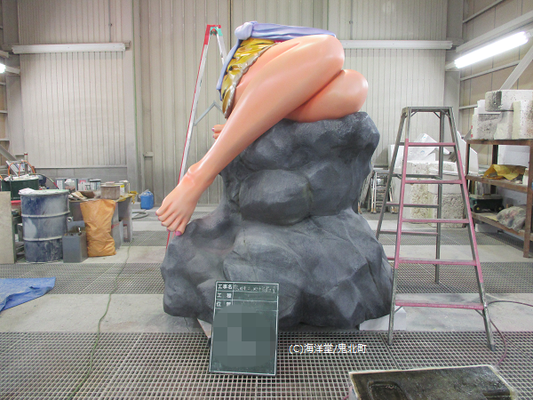 工場 擬岩組み立て