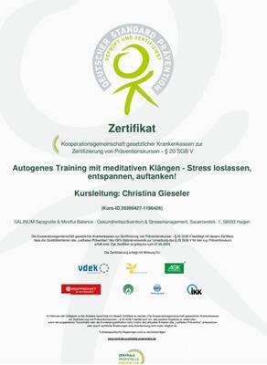 ZPP-Zertifikat Autogenes Training, Anti-Stress-Trainerin Christina Gieseler, Mindful Balance Gesundheitsprävention
