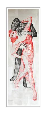 'Dance passion #1' Formaat (bxhxd): 60x180x5