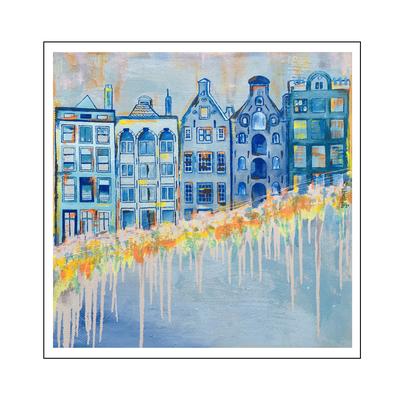 'Amsterdam is beautiful #1' Formaat (bxhxd): 100x100x2
