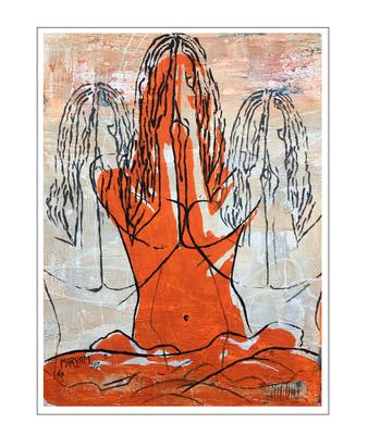 'Hiding behind my hands #3' Size: 60x80x2