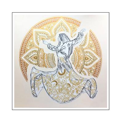 'Dance passion traditional Sama dance' Size: 100x100x2