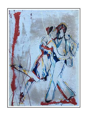 'Dance passion #6' Formaat (bxhxd): 60x80x2
