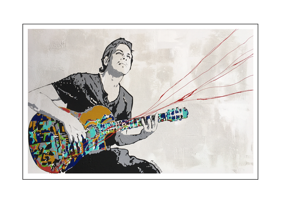 'Kaveh and his passion for guitar' Size: 115x75x2