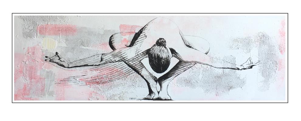 'Zen with me #4' Formaat (bxhxd): 180x60x3
