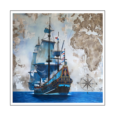 'Batavia ship, Dutch Golden Age in 17th century' Size: 200x200x3