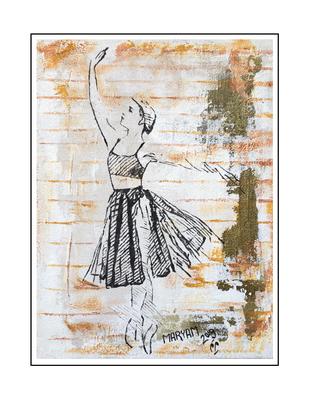 'Dance with me #8' Formaat (bxhxd): 60x80x2
