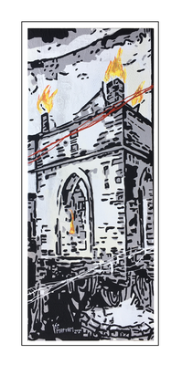 'Ateshgah of Baku' Formaat (bxhxd): 50x120x2