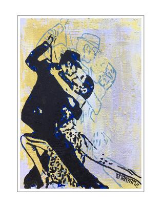 'Dance passion #4' Formaat (bxhxd): 60x85x3