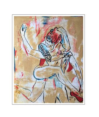 'Dance passion #7' Formaat (bxhxd): 80x100x2