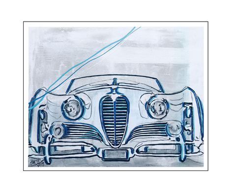 'Classic car #1' Size: 100x80x2