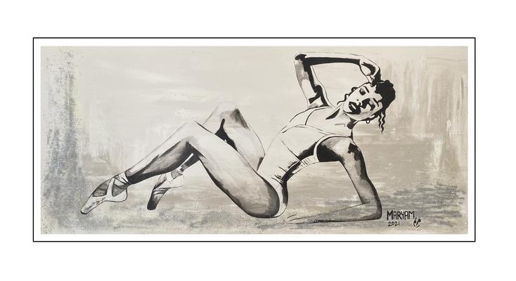 'Dance passion #14' Size: 180x80x2