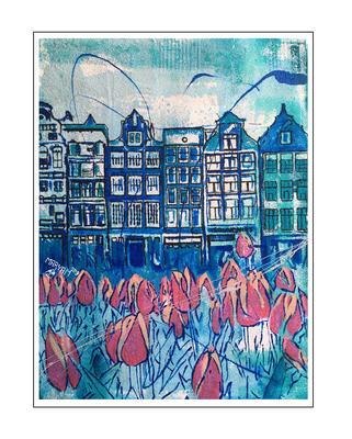 'Tulip fever in Amsterdam #1' Size: 60x80x2