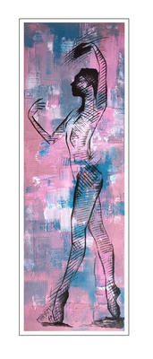'Dance with me #3' Size: 40x120x2