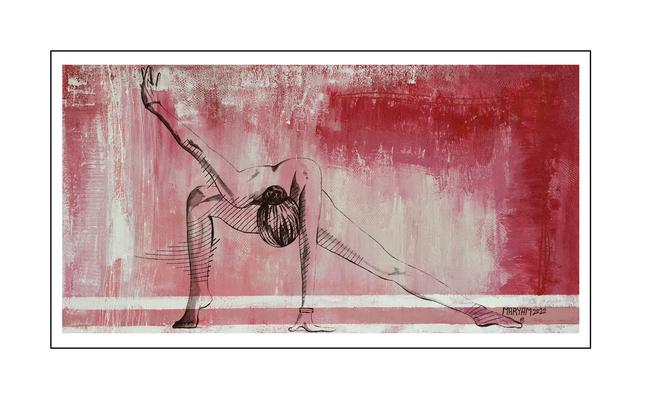 'Zen with me #15' Formaat (bxhxd): 150x80x2
