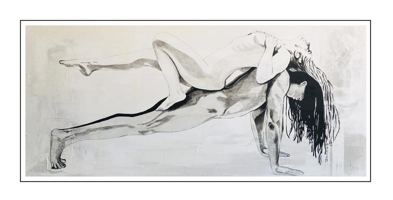 'Lay all your love on me' Size: 180x80x2