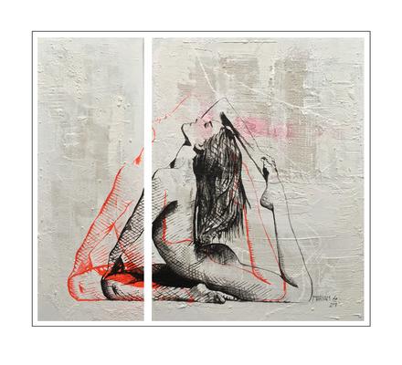 'Zen with me #6' Formaat (bxhxd): 95x85x3