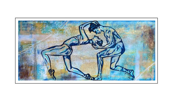 'Dance passion #9' Size: 180x80x2